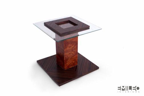 Zebra side table